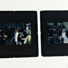Fotografía antigua: LOTE DE 2 DIAPOSITIVAS DE UN MIMO . STREET PHOTOGRAPHY.. Lote 108762230