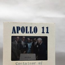 Fotografía antigua: APOLLO 11 , ARMSTRONG, ALDRIN, MISION LUNA 1969,, LOTE DE 67 DIAPOSITIVAS . Lote 110409491