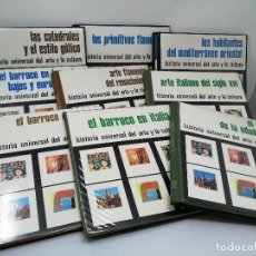 Fotografía antigua: HISTORIA UNIVERSAL DEL ARTE Y CULTURA. EDITORIAL HIARES. LOTE 9 LIBROS, 324 DIAPOSITIVAS.. Lote 112052279
