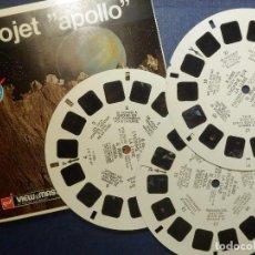 Fotografía antigua: DISCOS DE DIAPOSITIVAS PARA VISOR VIEW MASTER - EL PROYECTO APOLLO - 3 DISCOS . Lote 114748495