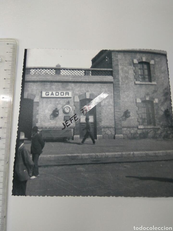 FOTO GADOR ALMERÍA ESTACIÓN RENFE PCPIO DE 1900 (Fotografía Antigua - Diapositivas)