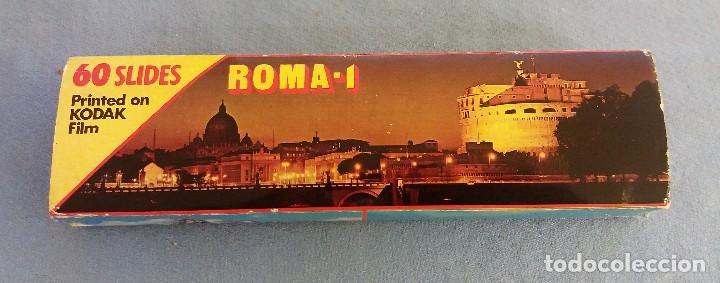 60 DIAPOSITIVAS DE ROMA SOUVENIR ROMA Nº 1 COLOR SLIDES KODAK FILM MUY BUEN ESTADO ORIGINALES (Fotografía Antigua - Diapositivas)