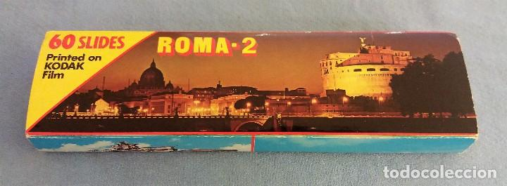 60 DIAPOSITIVAS DE ROMA SOUVENIR ROMA Nº 2 COLOR SLIDES KODAK FILM MUY BUEN ESTADO ORIGINALES (Fotografía Antigua - Diapositivas)