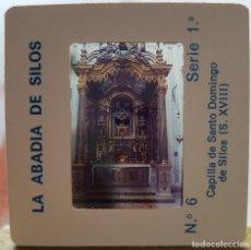 Fotografía antigua: == D26 - DIAPOSITIVA - LA ABADIA DE SILOS - CAPILLA DE SANTO DOMINGO. Lote 120048763