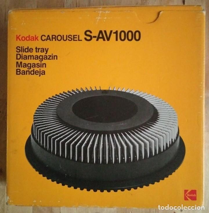 KODAK S-AV1000 CARRUSEL DIAPOSITIVAS CARRO CIRCULAR CAROUSEL CAJA ORIGINAL SLIDE TRAY DIAMAGAZIN R50 (Fotografía Antigua - Diapositivas)