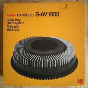KODAK S-AV1000 Carrusel diapositivas carro circular carousel caja original slide tray diamagazin R50