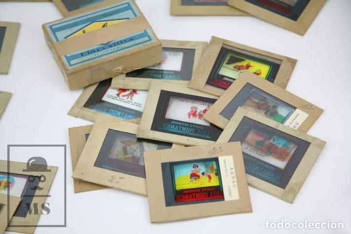 Fotografía antigua: Conjunto de 43 Antiguas Diapositivas / Clichés Vidrio Ilustrados por Arnau - Casa Montaner, Sallent - Foto 2 - 125390099