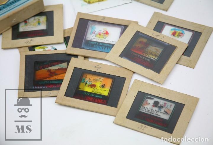 Fotografía antigua: Conjunto de 43 Antiguas Diapositivas / Clichés Vidrio Ilustrados por Arnau - Casa Montaner, Sallent - Foto 3 - 125390099