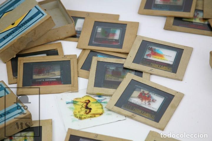 Fotografía antigua: Conjunto de 43 Antiguas Diapositivas / Clichés Vidrio Ilustrados por Arnau - Casa Montaner, Sallent - Foto 4 - 125390099