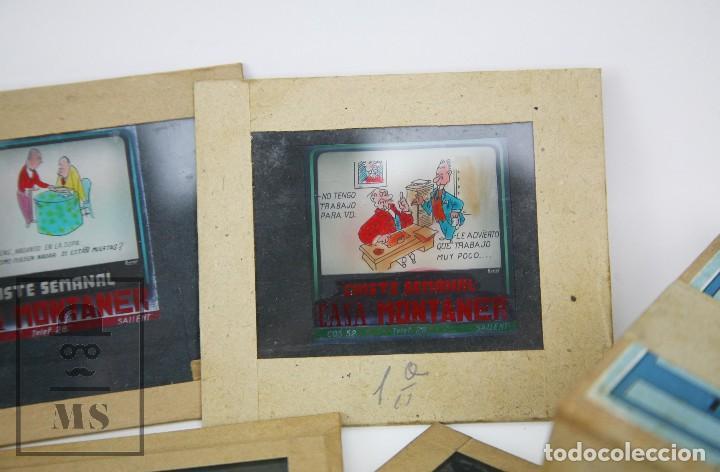 Fotografía antigua: Conjunto de 43 Antiguas Diapositivas / Clichés Vidrio Ilustrados por Arnau - Casa Montaner, Sallent - Foto 5 - 125390099