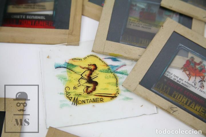 Fotografía antigua: Conjunto de 43 Antiguas Diapositivas / Clichés Vidrio Ilustrados por Arnau - Casa Montaner, Sallent - Foto 6 - 125390099