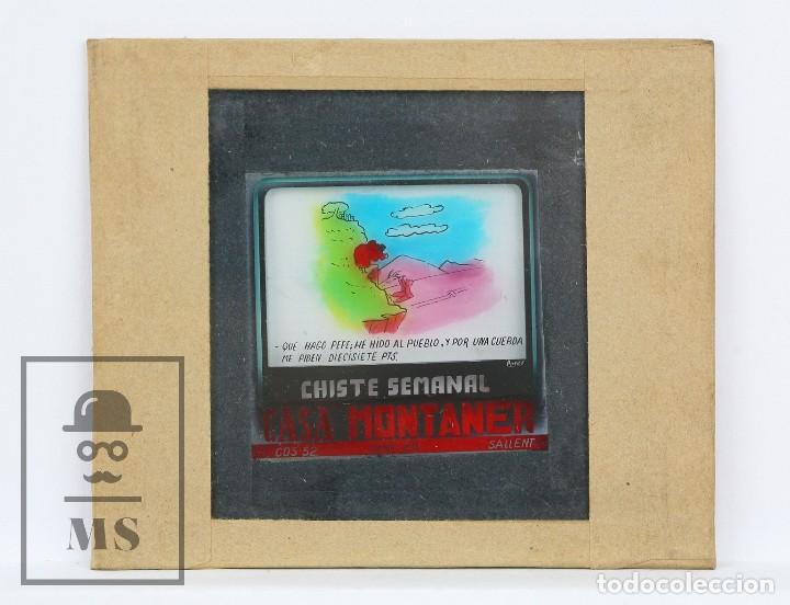 Fotografía antigua: Conjunto de 43 Antiguas Diapositivas / Clichés Vidrio Ilustrados por Arnau - Casa Montaner, Sallent - Foto 15 - 125390099