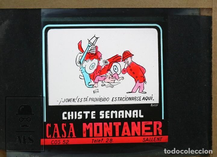 Fotografía antigua: Conjunto de 43 Antiguas Diapositivas / Clichés Vidrio Ilustrados por Arnau - Casa Montaner, Sallent - Foto 18 - 125390099