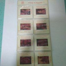 Fotografía antigua: 10 DIAPOSITIVAS SANTIAGO DE COMPOSTELA DE POSTALES ARRIBAS.VER FOTOS. Lote 126108246