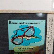 Fotografía antigua: DIAPOSITIVA EN CRISTAL A COLOR PUBLICIDAD INDO RARO. Lote 126596368