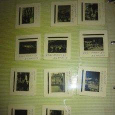 Fotografía antigua: ANTIGUAS 11 DIAPOSITIVAS DE FOTOS HOGUERAS DE ALICANTE FIESTAS 1963. Lote 127174307