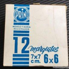 Fotografía antigua: CAJA DE 12 MARQUITOS PARA DIAPOSITIVA 6X6, DE LA MARCA PRINT, NUEVOS. Lote 127608015