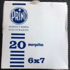 Fotografía antigua: CAJA DE 20 MARQUITOS PARA DIAPOSITIVA 6 X 7, DE LA MARCA PRINT, NUEVOS. Lote 127608327