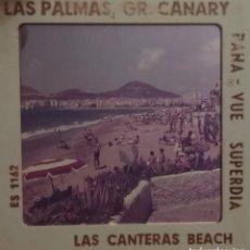 Fotografía antigua: GRAN CANARIA PLAYA LAS CANTERAS. Lote 128115535