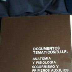 Fotografía antigua: DOCUMENTOS TEMATICOS BUP ANATOMIA, FISIOLOGIA SOCORRISMO Y PRIMEROS AUXILIOS COMPLETO VER FOTOS. Lote 128941075