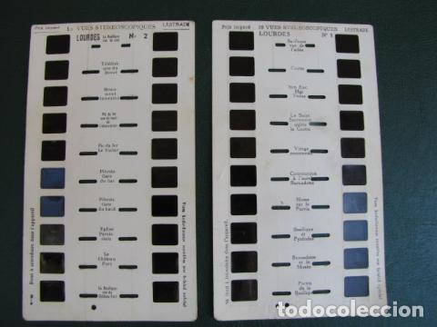 20 DIAPOSITIVAS ESTEROSCOPIO LOURDES (Fotografía Antigua - Diapositivas)