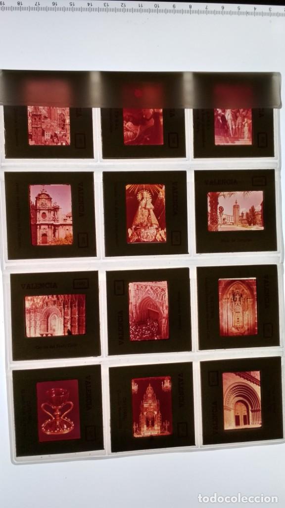 LOTE DE DIAPOSITIVAS TURISTICAS VALENCIA VER FOTOS (Fotografía Antigua - Diapositivas)