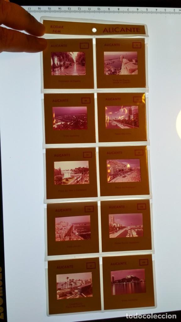 LOTE DE DIAPOSITIVAS TURISTICAS ALICANTE VER FOTOS (Fotografía Antigua - Diapositivas)