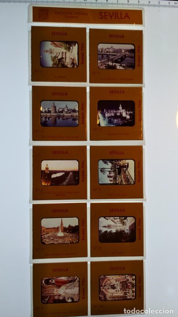 LOTE DE DIAPOSITIVAS TURISTICAS SEVILLA VER FOTOS (Fotografía Antigua - Diapositivas)