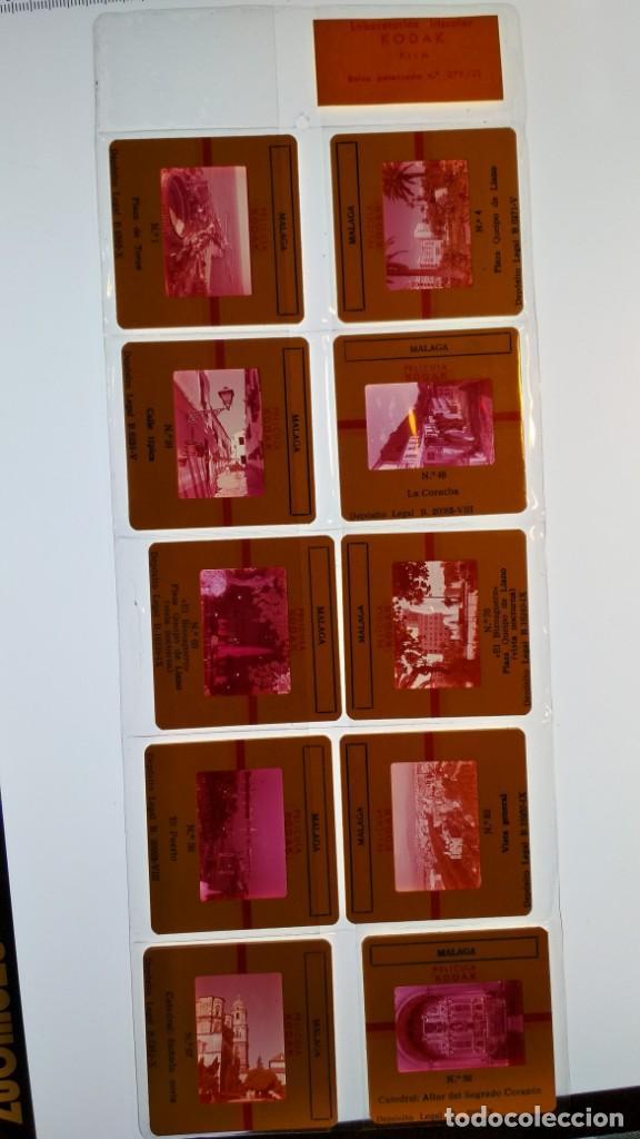 LOTE DE DIAPOSITIVAS TURISTICAS MALAGA VER FOTOS (Fotografía Antigua - Diapositivas)