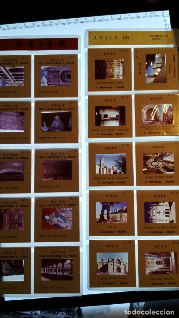 LOTE DE DIAPOSITIVAS TURISTICAS AVILA VER FOTOS (Fotografía Antigua - Diapositivas)