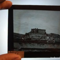 Fotografía antigua: LOTE DE 7 POSITIVOS DIAPOSITIVA EN CRISTAL DEL CASTILLO DE PEÑÍSCOLA CASTELLÓN 10 X 8,50 CM. Lote 133522502