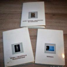 Fotografía antigua: 3 CARPETAS DE DIAPOSITIVAS DE TARRACO. Lote 134056110