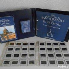 Fotografía antigua: SAN LORENZO DE EL ESCORIAL. MINISTERIO DE CULTURA. 80 DIAPOSITIVAS + CASSETTE + LIBRO. AÑO 1984.. Lote 149092932