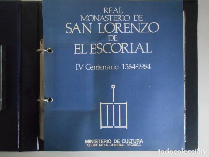 Fotografía antigua: SAN LORENZO DE EL ESCORIAL. MINISTERIO DE CULTURA. 80 DIAPOSITIVAS + CASSETTE + LIBRO. AÑO 1984. - Foto 7 - 149092932