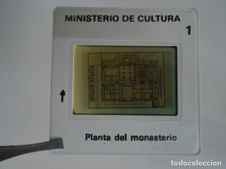 Fotografía antigua: SAN LORENZO DE EL ESCORIAL. MINISTERIO DE CULTURA. 80 DIAPOSITIVAS + CASSETTE + LIBRO. AÑO 1984. - Foto 13 - 149092932