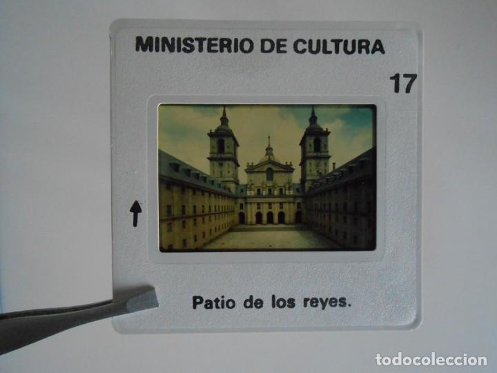 Fotografía antigua: SAN LORENZO DE EL ESCORIAL. MINISTERIO DE CULTURA. 80 DIAPOSITIVAS + CASSETTE + LIBRO. AÑO 1984. - Foto 14 - 149092932