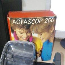 Fotografía antigua: VISOR DIAPOSITIVAS AGFA AGFASCOP 200. Lote 143290150
