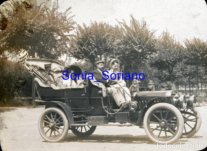 AUTOMOVIL DE POMAR. DIAPOSITIVA - PRINCIPIO DE 1900 (Fotografía Antigua - Diapositivas)
