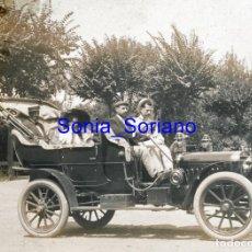 Fotografía antigua: AUTOMOVIL DE POMAR. DIAPOSITIVA - PRINCIPIO DE 1900. Lote 143910990