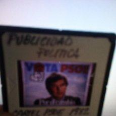Fotografía antigua: DIAPOSITIVA PUBLICIDAD POLITICA CARTEL PSOE 1982 CON FELIPE GONZALEZ MARQUES. Lote 144312878