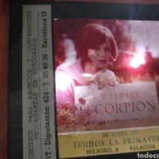 Fotografía antigua: DIAPOSITIVAS DE FOTOGRAFÍA MONTAJE CAMPAÑA PUBLICITARIA UN JERSEY ESCORPION BARCELONA , MODA , ROPA,. Lote 144790601