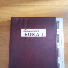 Fotografía antigua: ALMBUM 60 DIAPOSITIVAS ROMA. Lote 144934069