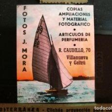 Fotografía antigua: DIAPOSITIVA CRISTAL PUBLICIDAD SALAS DE CINE.PERFUMERIA FOTOS J.MORA VILLANUEVA Y GELTRU 1945-REF-ML. Lote 149222850