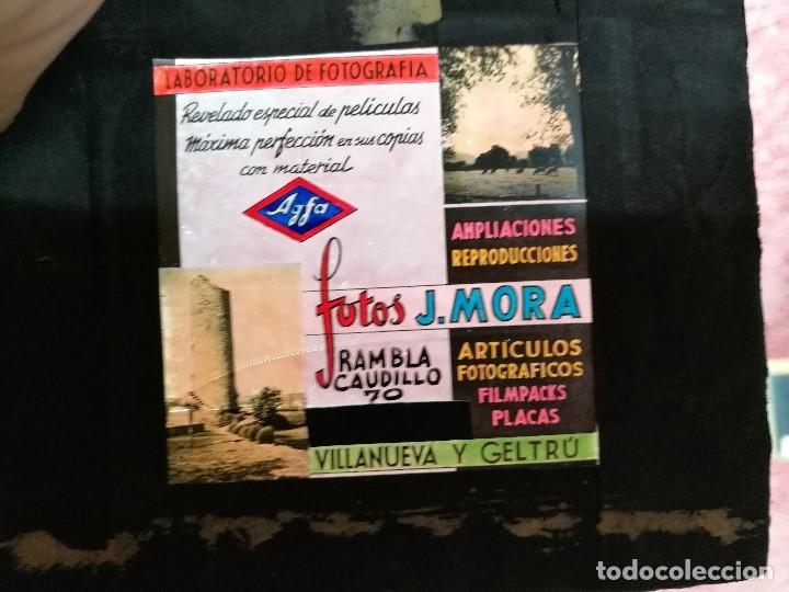 Fotografía antigua: diapositiva cristal publicidad salas de cine.perfumeria fotos j.mora villanueva y geltru 1943-REF-ML - Foto 3 - 149223426