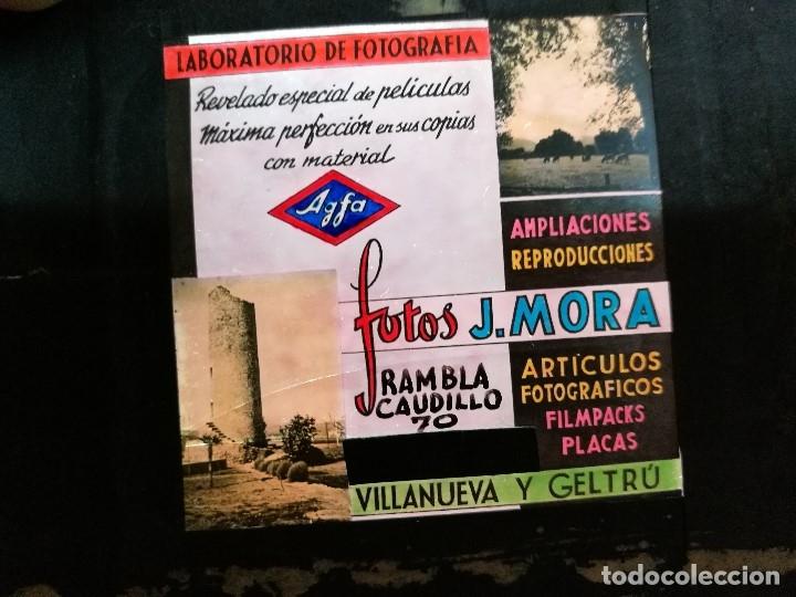 Fotografía antigua: diapositiva cristal publicidad salas de cine.perfumeria fotos j.mora villanueva y geltru 1943-REF-ML - Foto 7 - 149223426