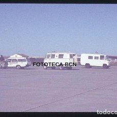 Fotografía antigua: OPERACION ICARO 80 AEROPUERTO EL PRAT BARCELONA AMBULANCIA CRUZ ROJA SIMULACRO CATASTROFE AÑO 1980. Lote 149464406