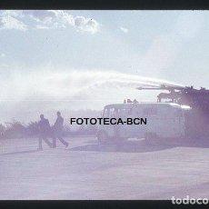 Fotografía antigua: OPERACION ICARO 80 AEROPUERTO EL PRAT AMBULANCIA CAMION BOMBEROS SIMULACRO CATASTROFE AÑO 1980. Lote 149464786