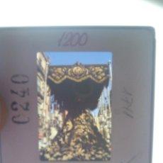 Fotografía antigua: SEMANA SANTA DE SEVILLA : DIAPOSITIVA DE VIRGEN EN PASO DE PALIO. Lote 151395226