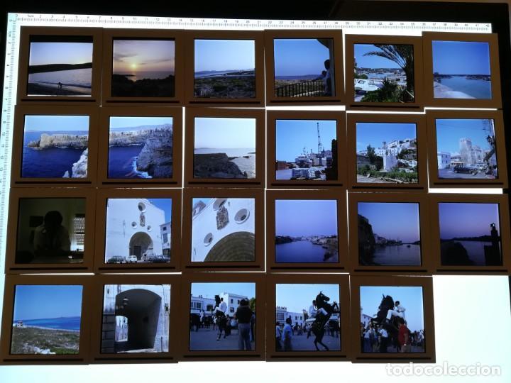 LOTE DE MAS DE 80 DIAPOSITIVAS DE 6X6 MENORCA AÑOS 60/70 (Fotografía Antigua - Diapositivas)