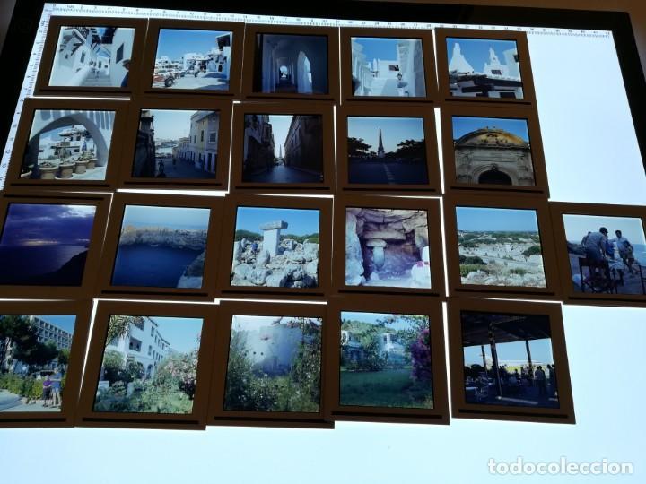 Fotografía antigua: LOTE DE MAS DE 80 DIAPOSITIVAS DE 6X6 MENORCA AñOS 60/70 - Foto 12 - 155202028